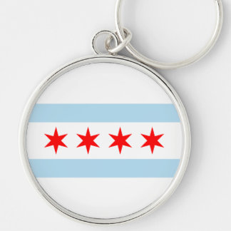 Chicago Flag Key Ring