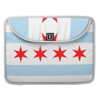 Chicago Flag Macbook Pro Rickshaw Flap Sleeve