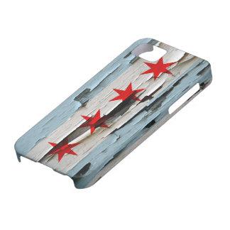 Chicago Flag Paint Peel iPhone 5 Cases