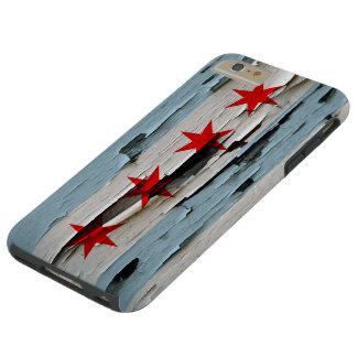 Chicago Flag Paint Peel Look Tough iPhone 6 Plus Case