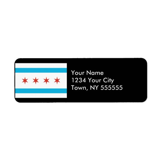 Chicago Flag Return Address Label