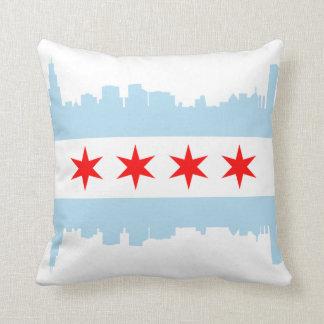 Chicago Flag Skyline American MoJo Pillow