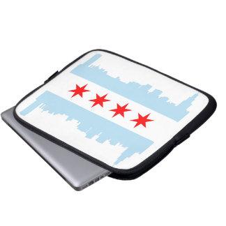 Chicago Flag Skyline Laptop Sleeve