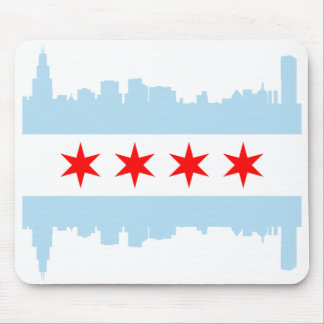 Chicago Flag  Skyline Mouse Pad