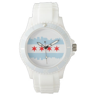 Chicago Flag Skyline Wristwatch