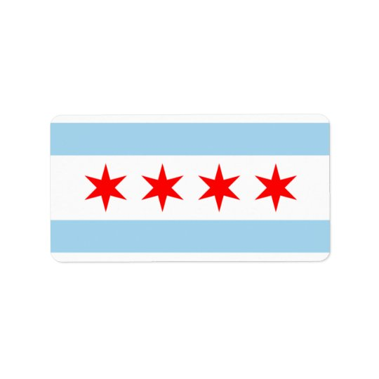 CHICAGO FLAG STICKERS! ADDRESS LABEL