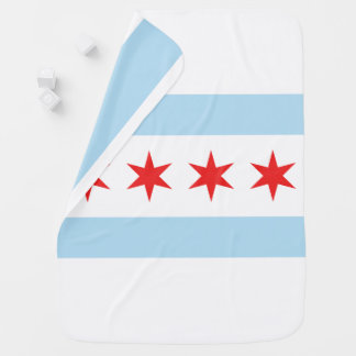 Chicago Flag Stroller Blanket Buggy Blankets
