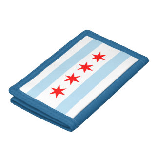 Chicago Flag Tri-fold Wallet