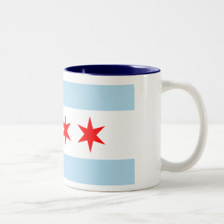 Chicago Flag Two-Tone Coffee Mug
