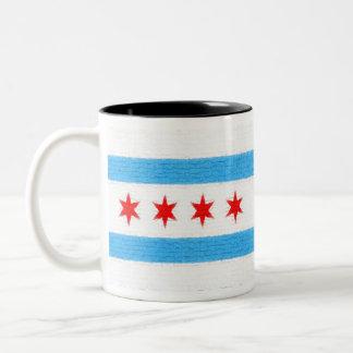 Chicago Flag Two-Tone Coffee Mug