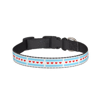 Chicago Flag with Hearts Pet Collar