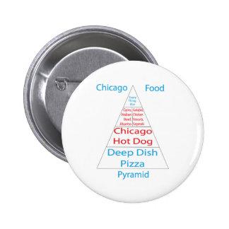 Chicago Food Pyramid Pin