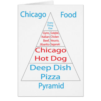 Chicago Food Pyramid Greeting Cards