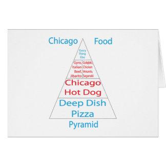 Chicago Food Pyramid Greeting Card
