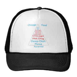 Chicago Food Pyramid Mesh Hat