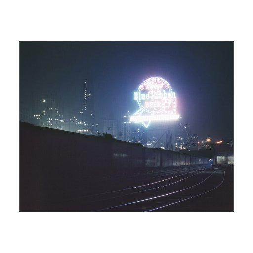 Chicago Freight Yard, 1943 Canvas Prints