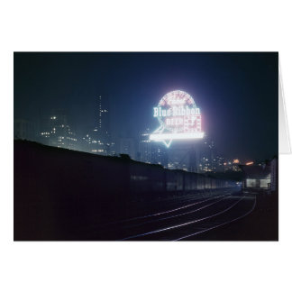 Chicago Freight Yard, 1943 Greeting Card