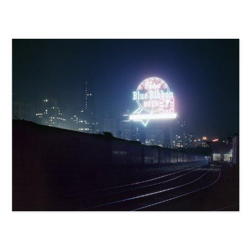 Chicago Freight Yard, 1943 Postcard