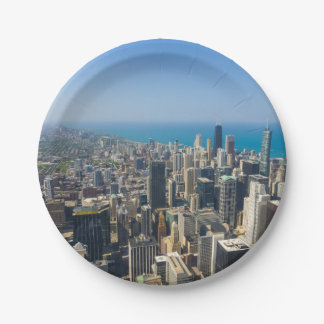 Chicago From Above 7 Inch Paper Plate