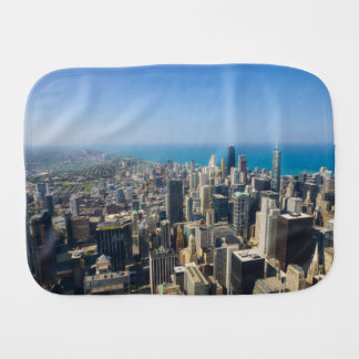 Chicago From Above Burp Cloth