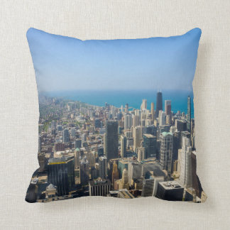 Chicago From Above Throw Pillow