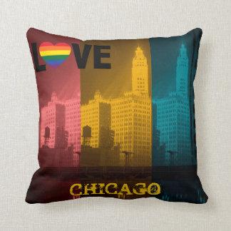 Chicago Gay Pride 1930's Wrigley Building Photo Cushion