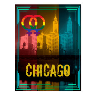 Chicago Gay Pride Lesbian 1930's Wrigley Building Postcard