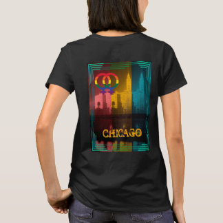 Chicago Gay Pride Lesbian 1930's Wrigley Building T-Shirt