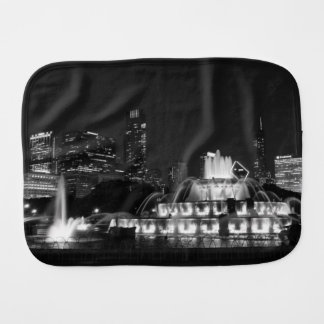 Chicago Grant Park Grayscale Burp Cloth