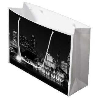 Chicago Grant Park Grayscale Large Gift Bag