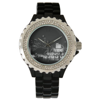Chicago Grant Park Grayscale Wrist Watches