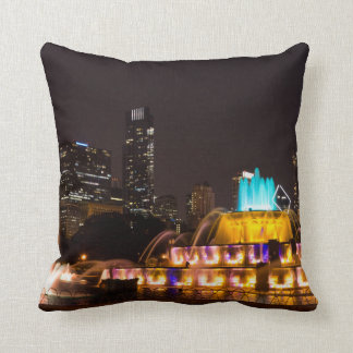 Chicago Grant Park Throw Pillow