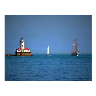 Chicago Harbor Postcard