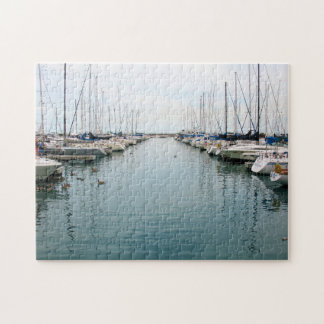 Chicago Harbor - Sailboats at Rest Puzzle