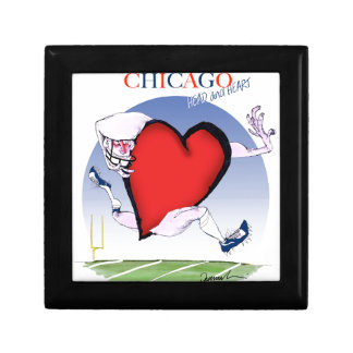 Chicago Head and Heart, tony fernandes Small Square Gift Box