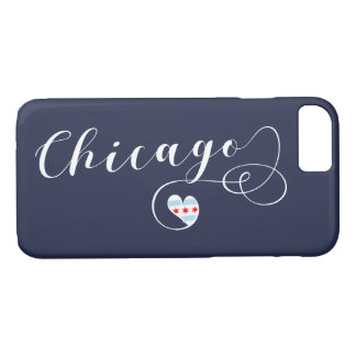Chicago Heart Mobile Phone Case, Illinois iPhone 8/7 Case