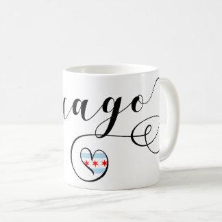 Chicago Heart Mug, Illinois Coffee Mug
