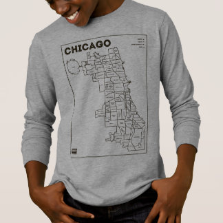 Chicago 'Hoods Map Bold Star Kid's Gear T-Shirt