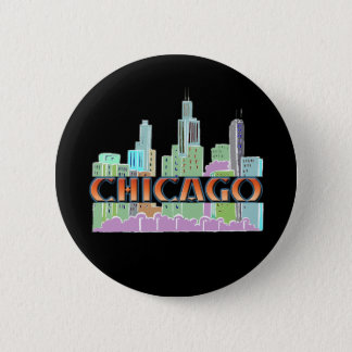 Chicago IL 6 Cm Round Badge