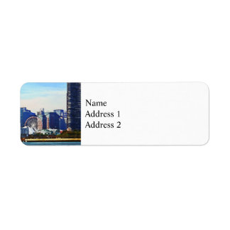Chicago IL - Chicago Skyline and Navy Pier Return Address Label