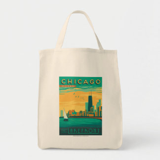 Chicago, IL - Enjoy the Lakefront Grocery Tote Bag