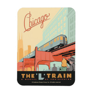 Chicago, IL - 'L' Train Magnet