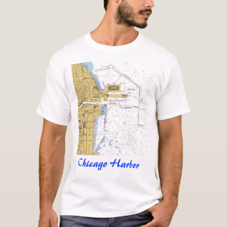 Chicago  IL Nautical Harbor Chart Shirt