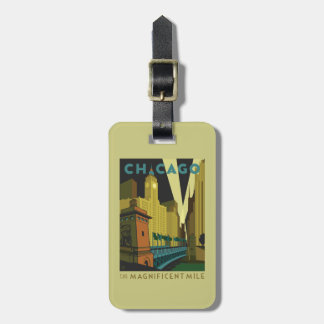 Chicago, IL - The Magnificent Mile Luggage Tag