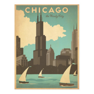 Chicago, IL - Windy City Postcard