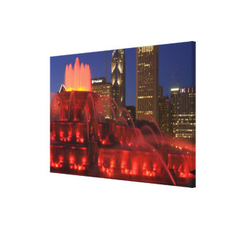 Chicago, Illinois, Buckingham Fountain Stretched Canvas Print
