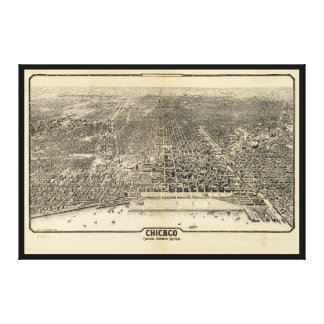 Chicago, Illinois Central Business Section (1916) Canvas Print