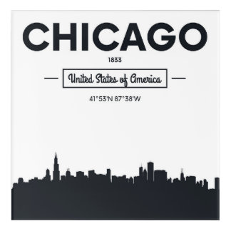 Chicago, Illinois | City Coordinates Acrylic Wall Art