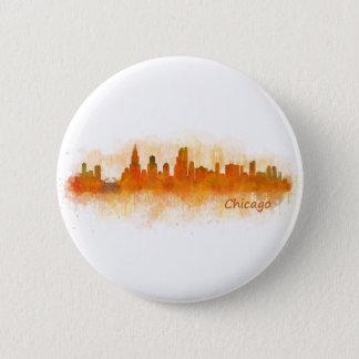Chicago Illinois City Skyline v03 6 Cm Round Badge