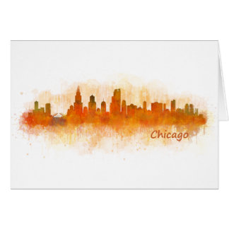 Chicago Illinois City Skyline v03 Card